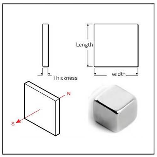 Cube Neodymium Magnets