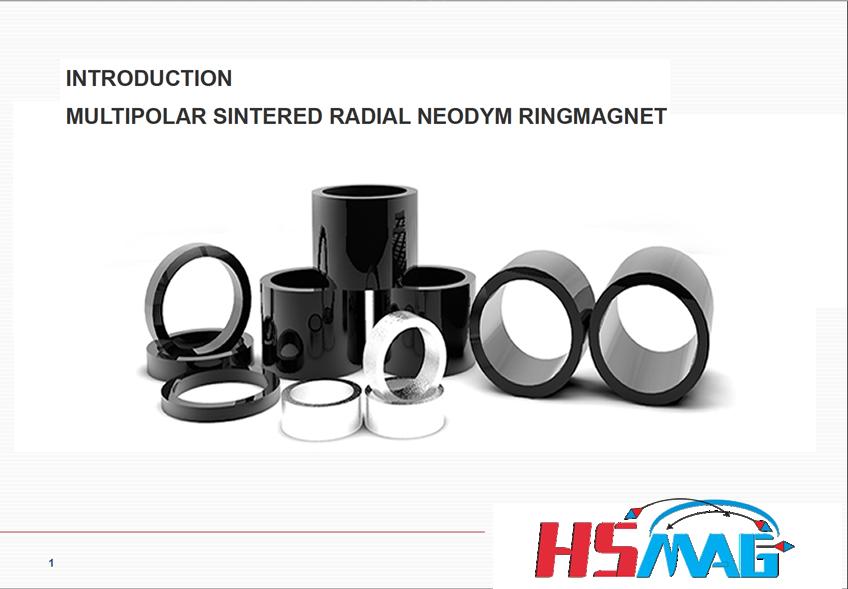 Multipolar sintered neodymium ring magnet 1
