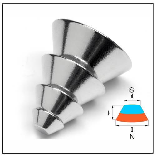 Cone Neodymium Magnets