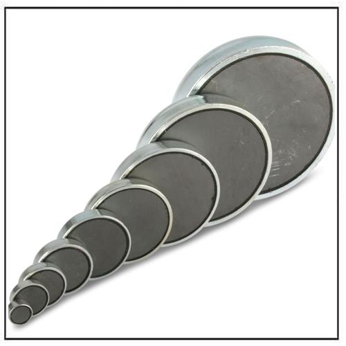 Flat Ferrite Holding Pot Magnets