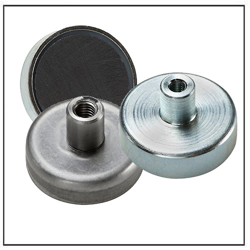 Ferrite Pot Magnets with Screwed Bush