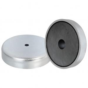 Ferrite shallow pot magnets