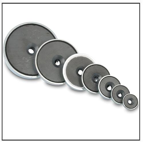 Hard Ferrite Countersunk Shallow Pot Magnet