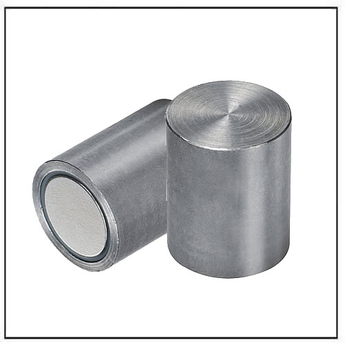 NdFeB deep pot magnets steel body with-fitting-tolerance-h6