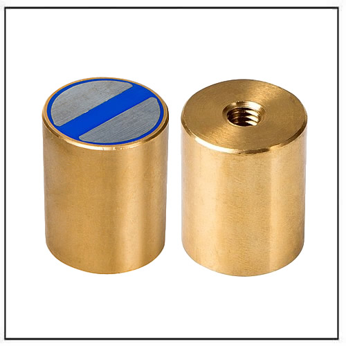 NdFeB magnets with brass body Cylindrical pot