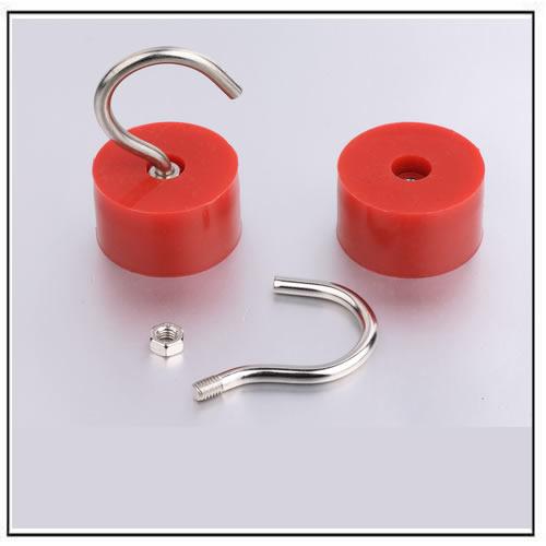 Rubber Coated Neodymium Magnetic Hooks