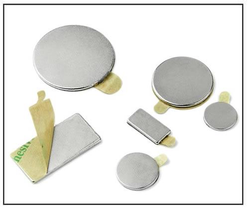 Self-adhesive permanet rare-earth magnets