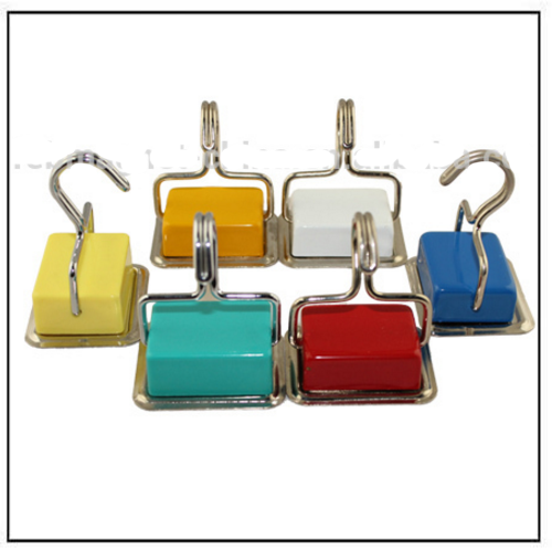 colorful strong ferrite square magnetic hooks