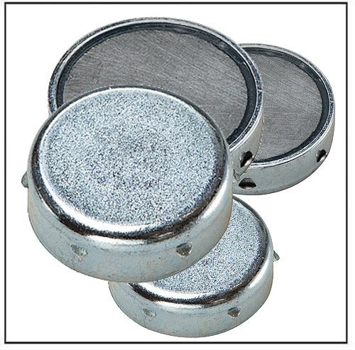 flat ferrite pot magnet with notches