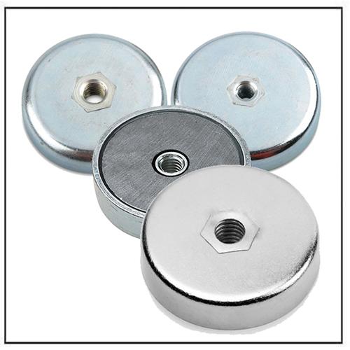 hard ferrite ceramic pot magnets with internal thread