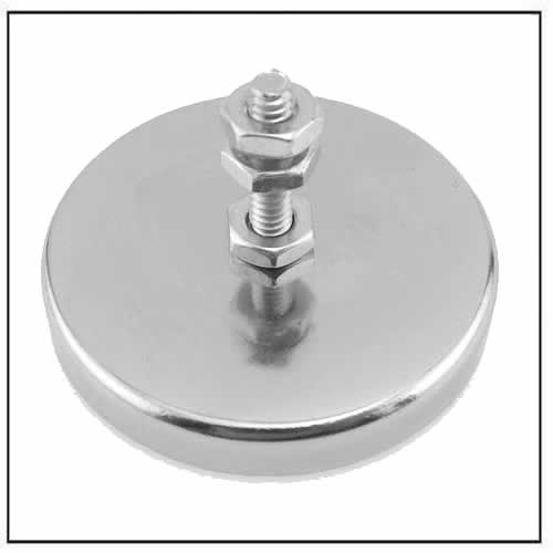 Magnetic Hook, Round Base Magnet Fastener with Bolt Chrome Plate