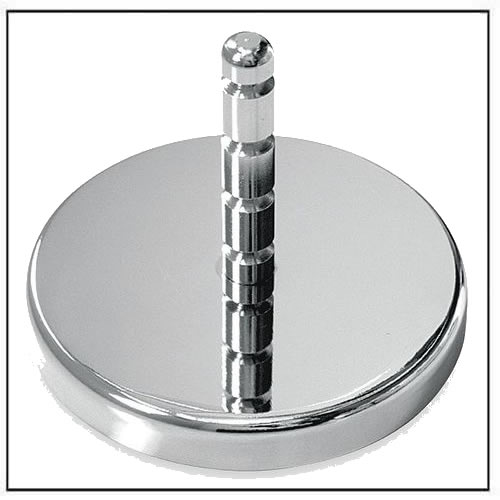 Magnetic Hook with Grooved Post Chrome Plate