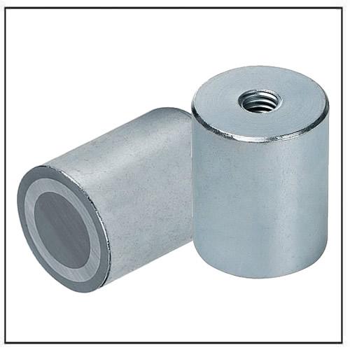 AlNiCo Deep Pot Bar Magnet steel body with internal thread
