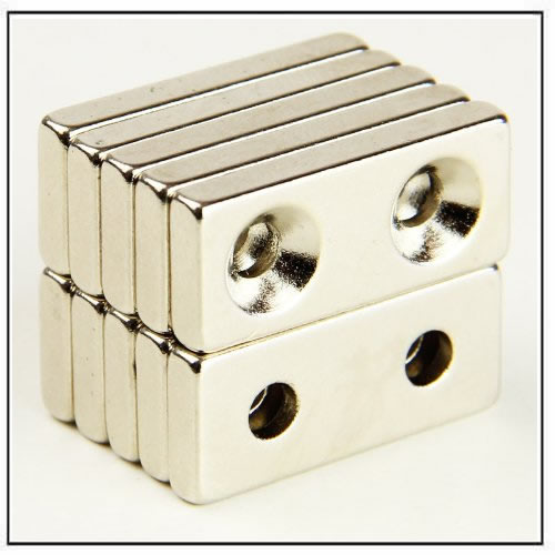 block-ndfeb-magnet-with-double-countersunk-holes