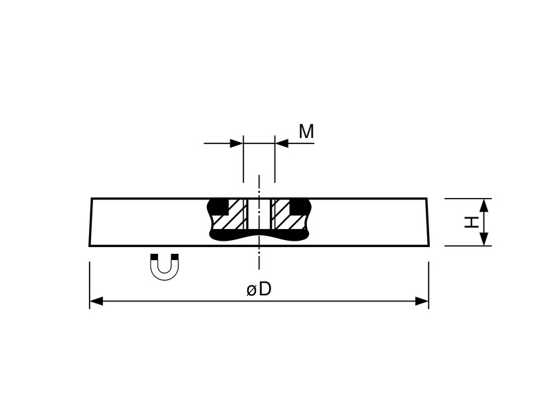 ndfeb-magnetic-system-with-internal-thread-and-rubber-coat
