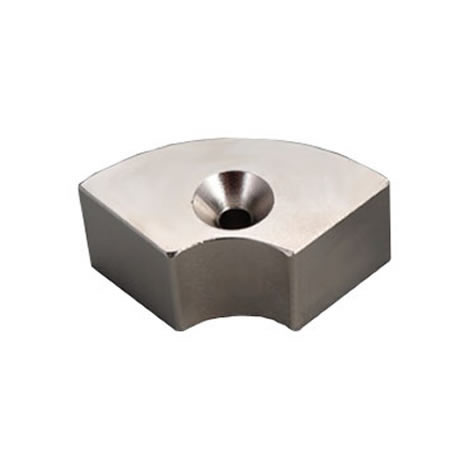 High performance ndfeb segment countsunk magnet magnets for Neodymium magnet motor generator