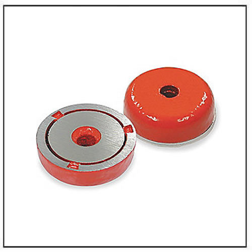 alnico-shallow-pot-magnets-with-red-coating