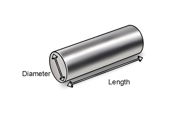 dimensions-cylindrical-bar-magnet