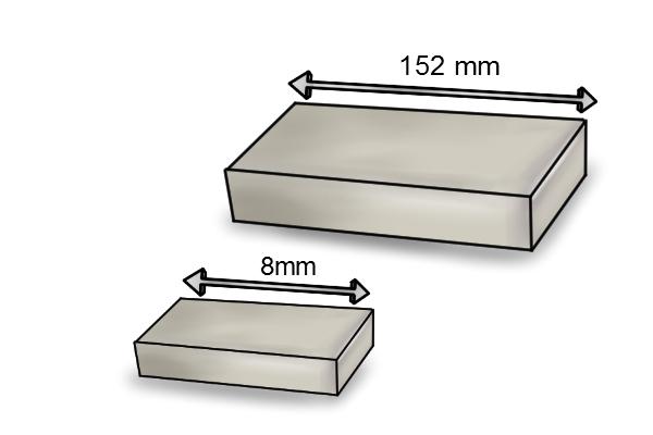 length of a rectangle bar magnet
