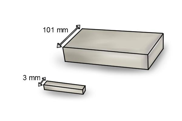 width of a rectangle bar magnet