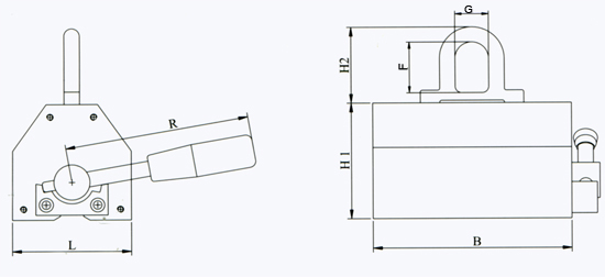Permanent-Magnetic-Lifter-B-Series-Drawing
