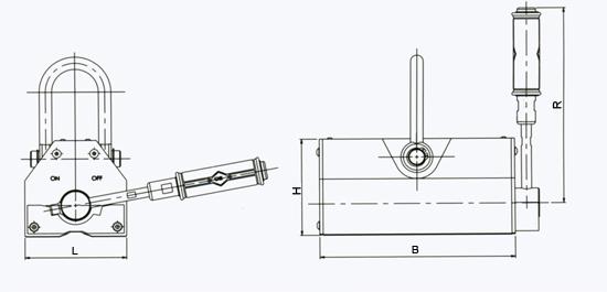 manual-permanent-lifting-magnet-c-series-drawing