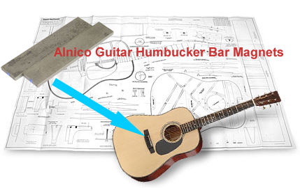 Alnico Guitar Humbucker Bar Magnets