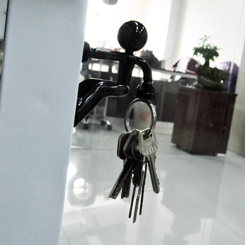 Black KEY PETE Strong Magnetic Key Holder Hook Rack