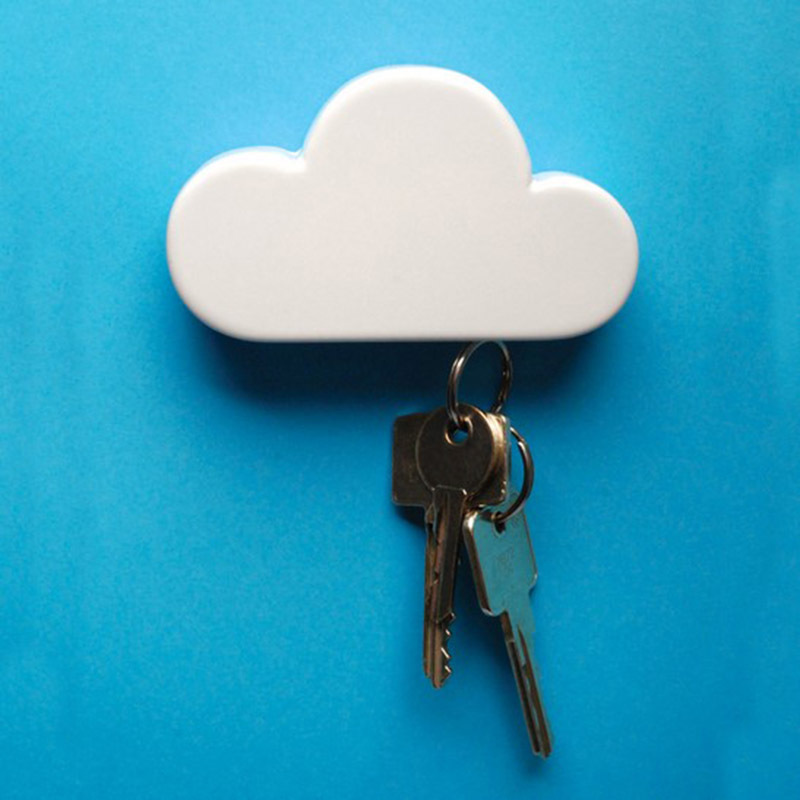 Colour Cloud Shaped Magnetic Key Holder Wall Key Hook Key