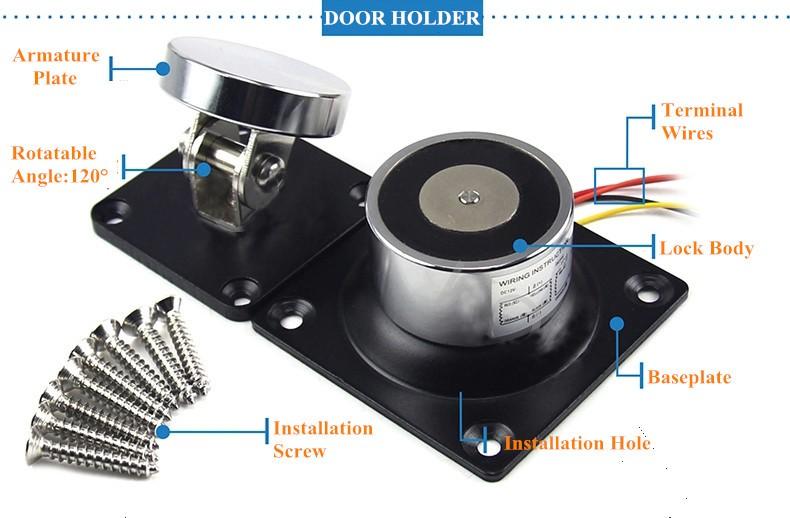 Electromagnetic Door Holder Explod Image
