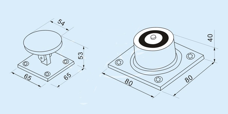 Electromagnetic Door Holder Size Drawing