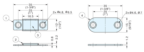 HSMC-U02 Ultra thin stainless steel magnetic catch
