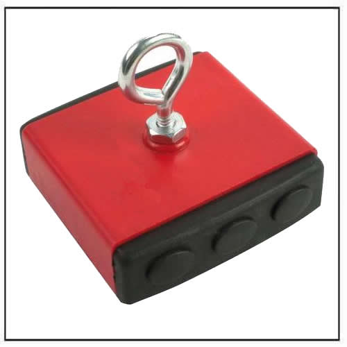Heavy-Duty Retrieving Magnets Durable Plastic Coated 40 lb Pull