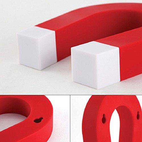 U shaped magnetic key holder red magnets by hsmag