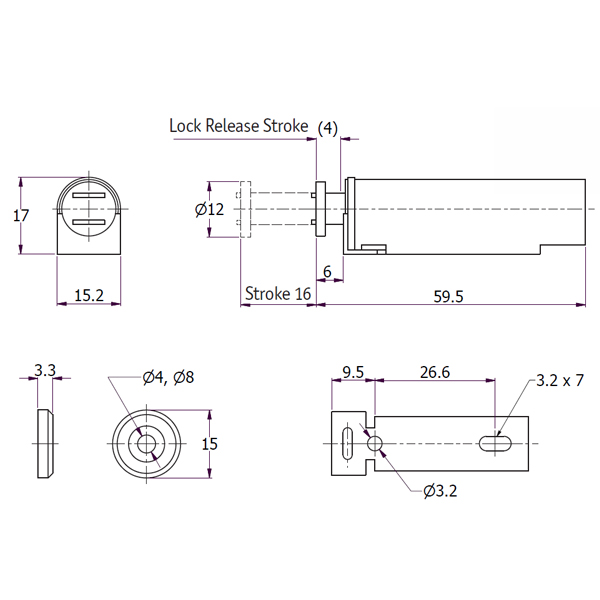 Slide Magnetic Latch DRAWING