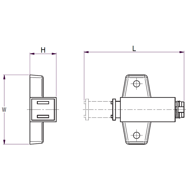 Surface Mounted Magnetic Touch Latch DRAWING