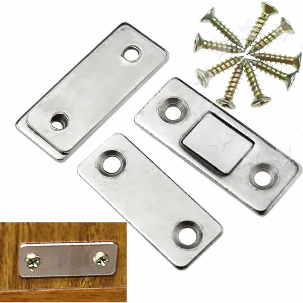 Ultra Thin Door Catch Latch Furniture Magnetic Cabinet Cupboard Glass