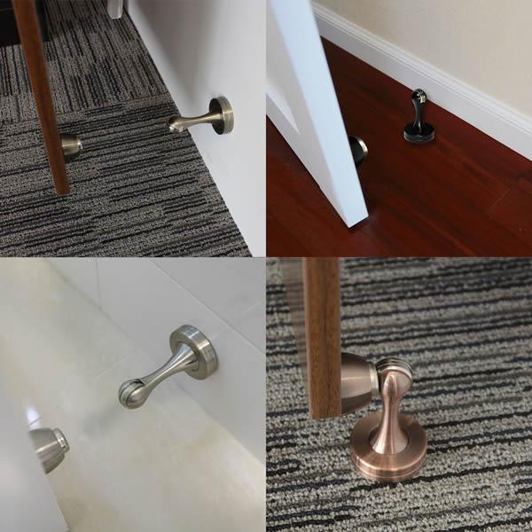Vintage Magnetic Door Stop Holder Wall Floor Mount for Home or Office