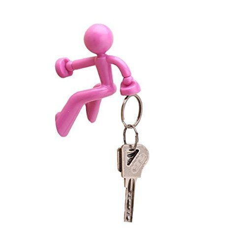 Wall-Climbing Magnetic Man Style Key Holder with Extra Strong Magnets