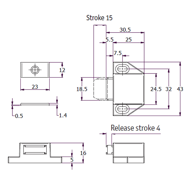 magnetic-touch-latch-w-short-stroke-drawing