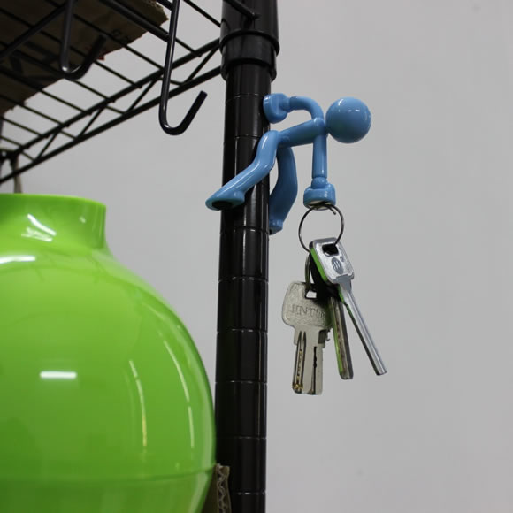 novelty Wall-climbing Magnetic Man Style Key Holder with extra strong magnets