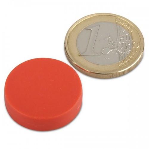 1 Dia X 1 4 Thick Plastic Coated Neodymium Magnet Disc