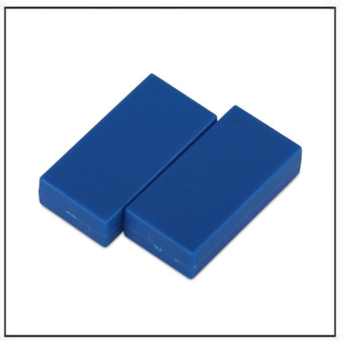 1″-x-1-2″-x-1-4″-block-blue-plastic-coated-ndfeb-magnet