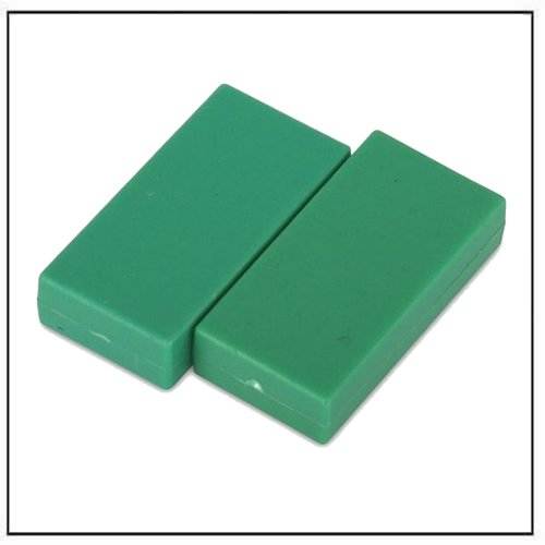 1″-x-1-2″-x-1-4″-block-green-plastic-coated-ndfeb-magnet