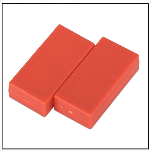 1″-x-1-2″-x-1-4″-block-red-plastic-coated-ndfeb-magnet