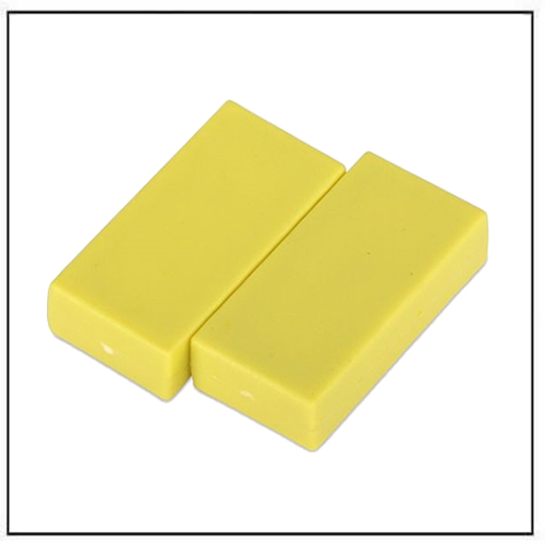 1″-x-1-2″-x-1-4″-block-yellow-plastic-coated-ndfeb-magnet