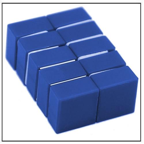 1 2 Quot X 1 2 Quot X 1 4 Quot Blue Plastic Coated Block Neodymium