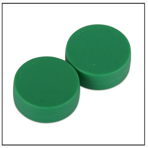 3-4″-dia-x-3-8″-thick-disc-plastic-coated-green-neodymium-magnet