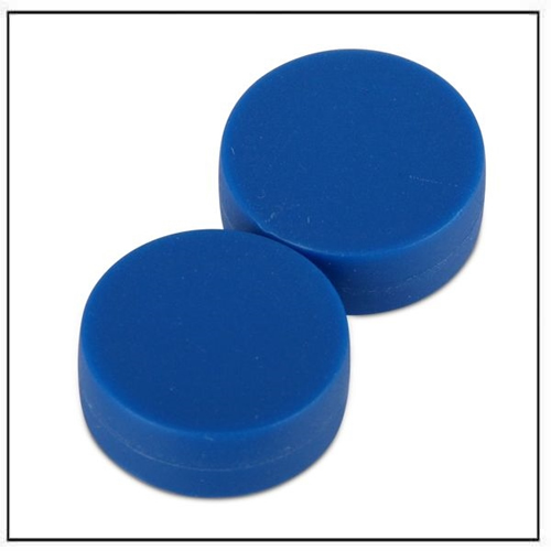 3-4-dia-x-3-8-thick-disc-plastic-coated-blue-neodymium-magnet