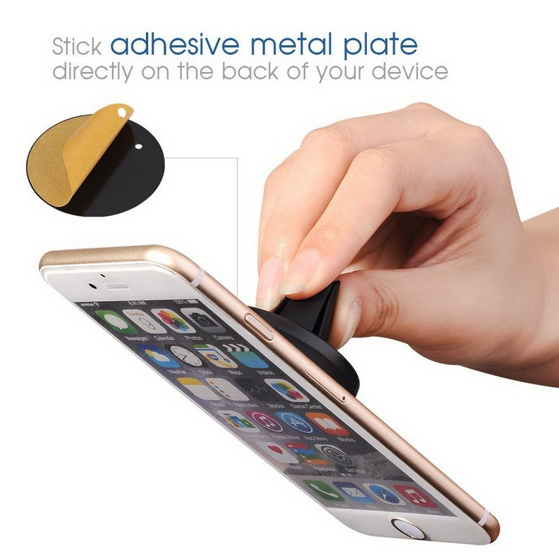 360 Degree Car Mount Sticky Magnetic Mobile Phone Stand Holder